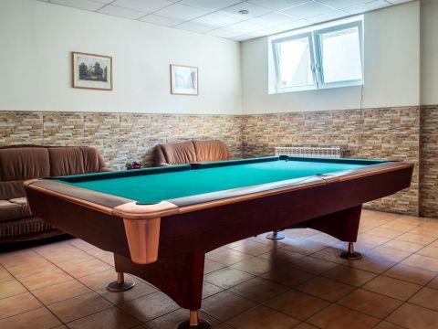 Bilijardo stalas pobuvių salėje